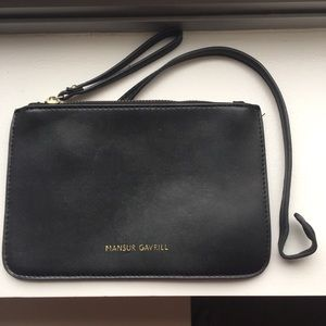 Mansur Gavriel Leather Zipper Pouch